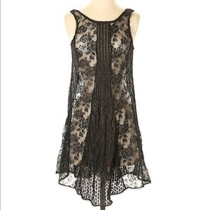 Free People Multipattern Lace Sleeveless Dress